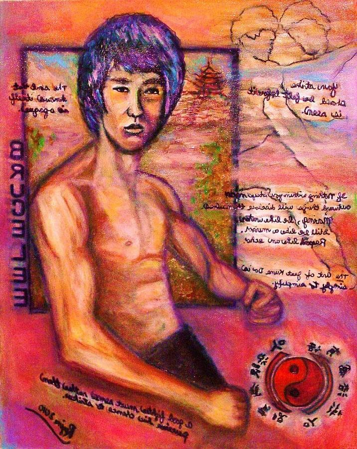 Bruce Lee - Be Like Water Painting