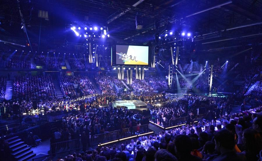 Michael Buble hosts the 2013 Juno Awards at the Brandt Centre on...