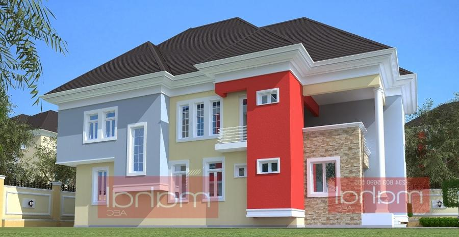 Contemporary Nigerian Residential Architecture: 4 Bedroom Duplex....
