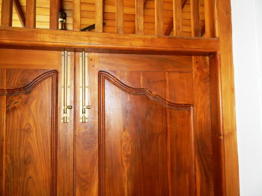Hand crafted quality hardwood used on all doors and fittings