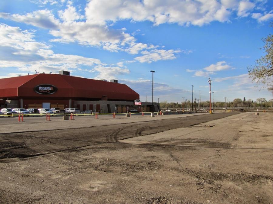 This is what used to be a parking lot at the Brandt Centre, home...