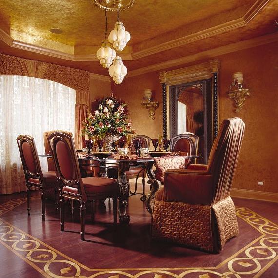 Tuscan Venetian mediterranean-dining-room