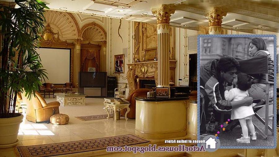 interior designs of bollywood actor Sharukh Khanu house