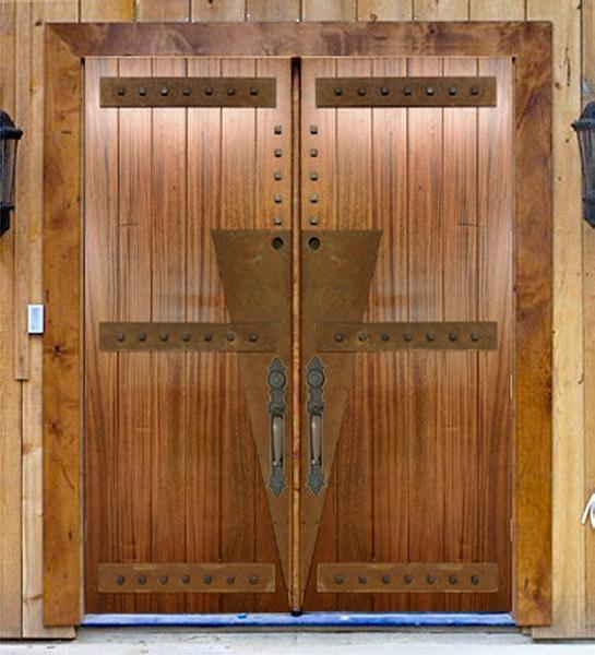 This pair of Custom V-Groove Contemporary Front Entry Doors were...