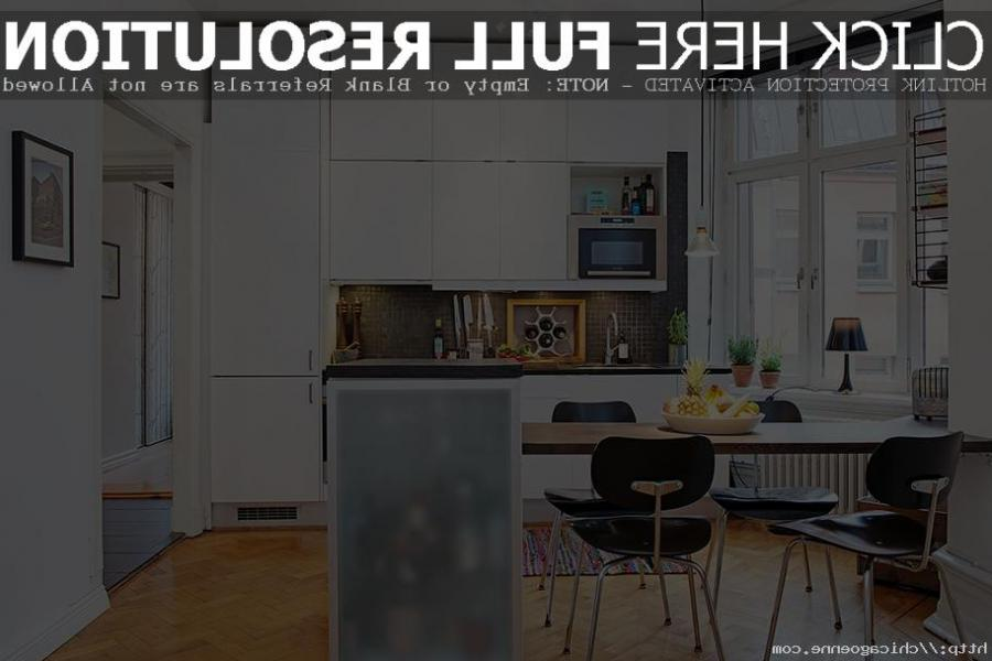 ... lovely minimalist kitchen and dining room design in small...