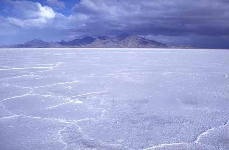 View North of Bonneville Salt Flats and the Silver Island...