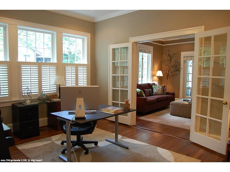 French doors from left from parlor open to wonderful office/den...