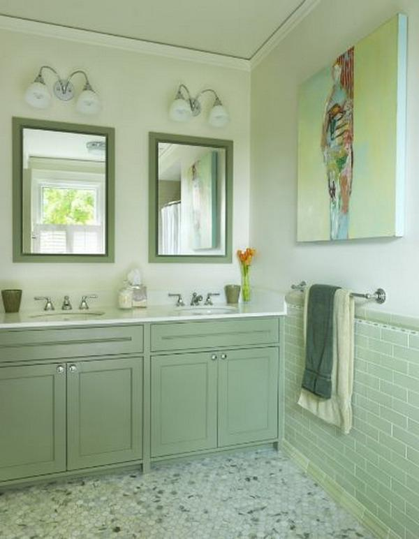 Home Improvement Green Bathroom Color
