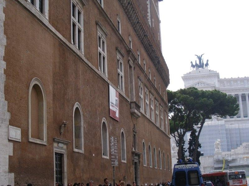 Rome: the balcony Mussolini made his famous speeches from.JPG