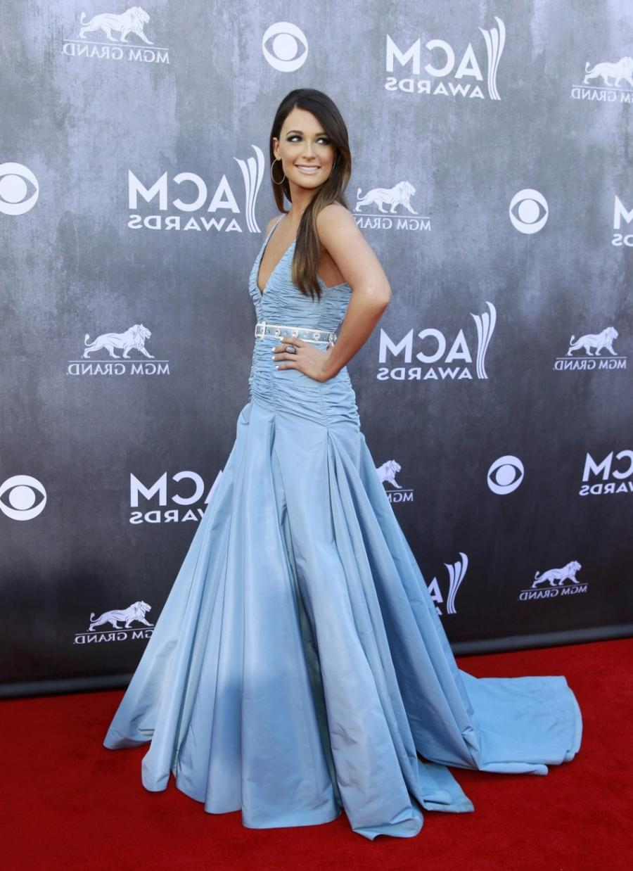Country music singer Kacey Musgraves arrives at the 49th Annual...