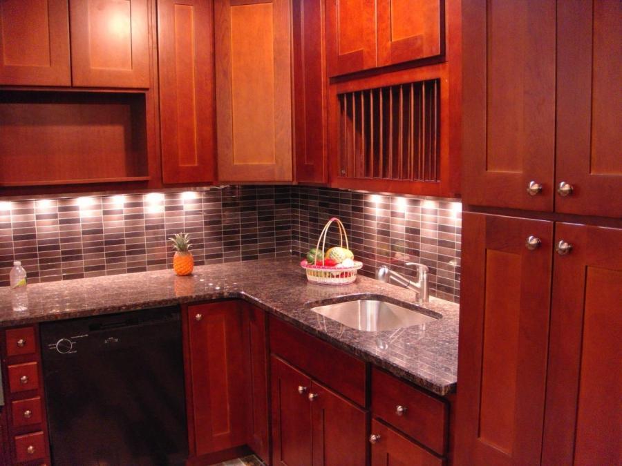 Shaker Cherry Kitchen Cabinets Photos - shaker cherry kitchen cabinet designs