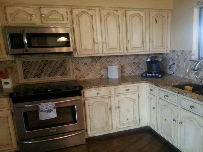 White Distressed Kitchen Cabinets Distressed Kitchen Cabinets As One Of The Trick To Makeover And