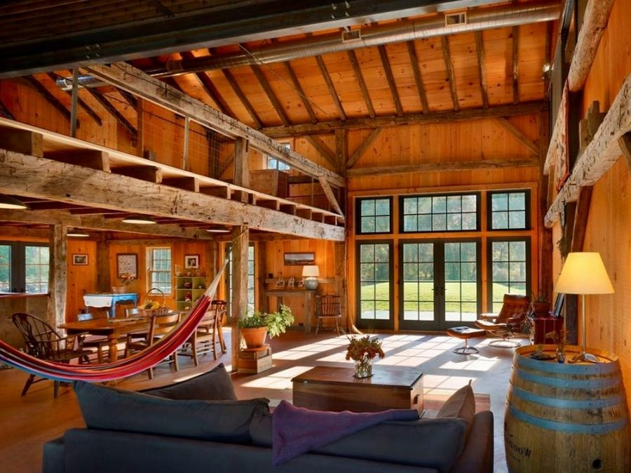 Interior photos of pole barn homes