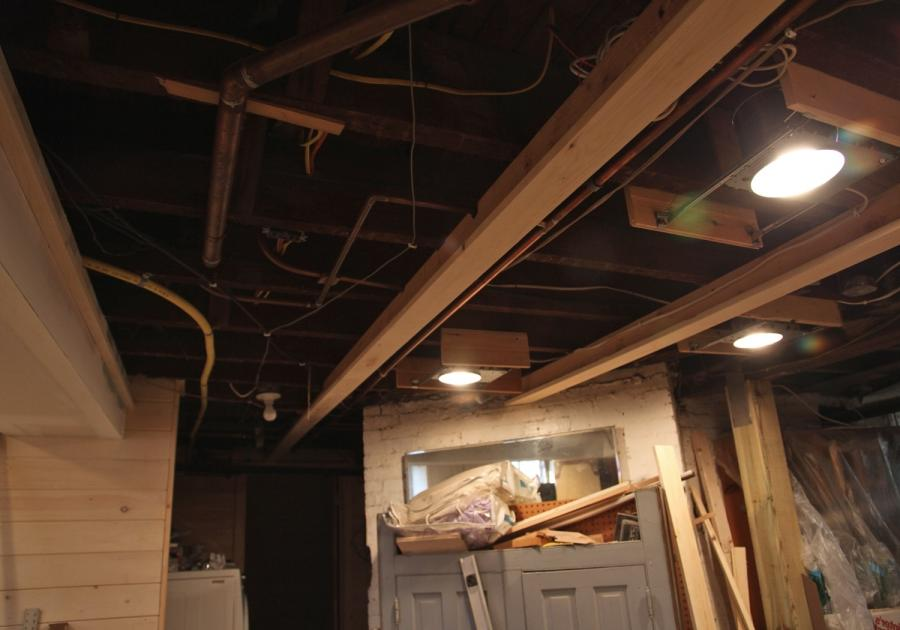 Ceiling w/ T-Shaped Pieces Installed