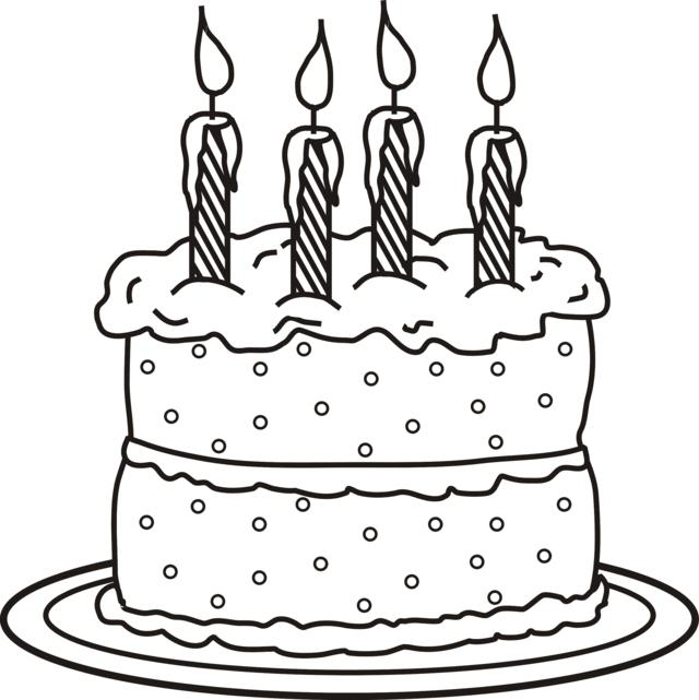 Birthday Cake Image To Colour In : 4 candles on cake photo