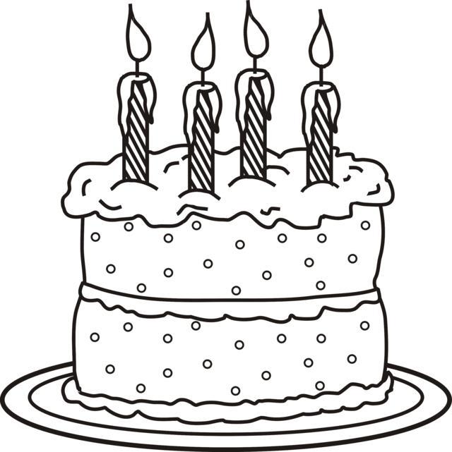 4 Candles On Cake Photo