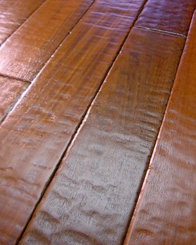 Hand scraped hardwood flooring photos for Unfinished brazilian walnut flooring