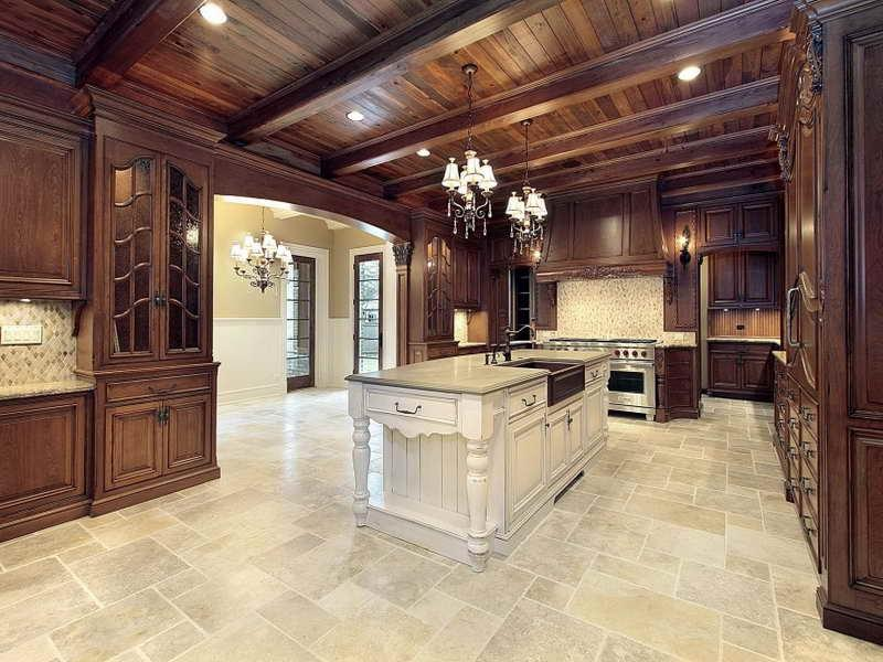Ceramic tile kitchen floor design photos Luxury kitchen flooring