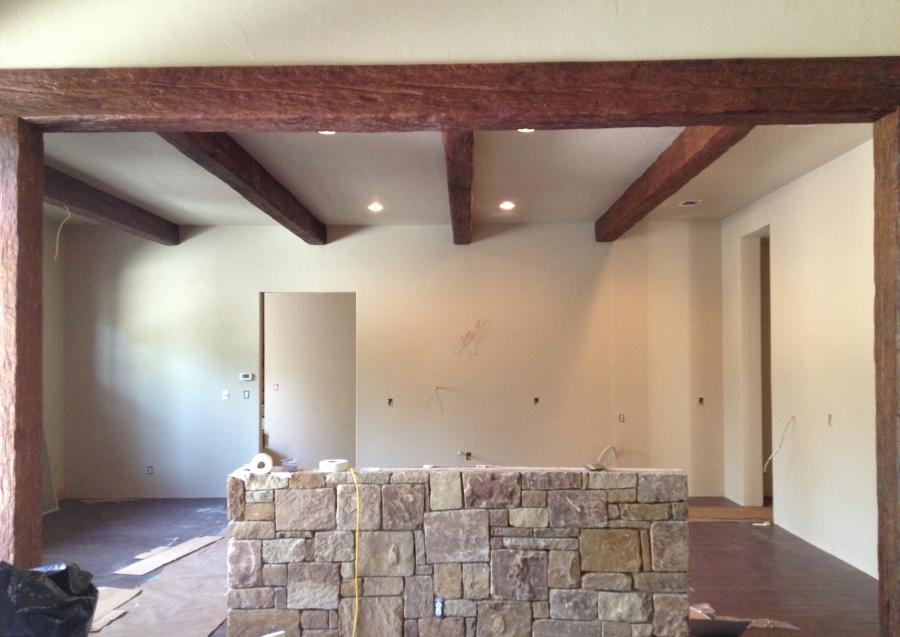 Wood beam ceiling photos for Old world traditions faux beams