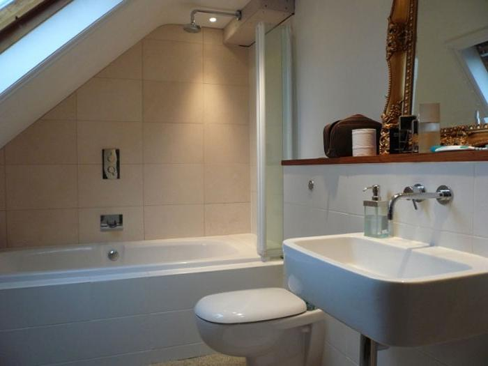 Beautiful attic bathroom; Beautiful attic bathroom