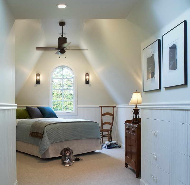 Inspiring Attic Bedroom Ideas With Wall Lights With Modern Tone