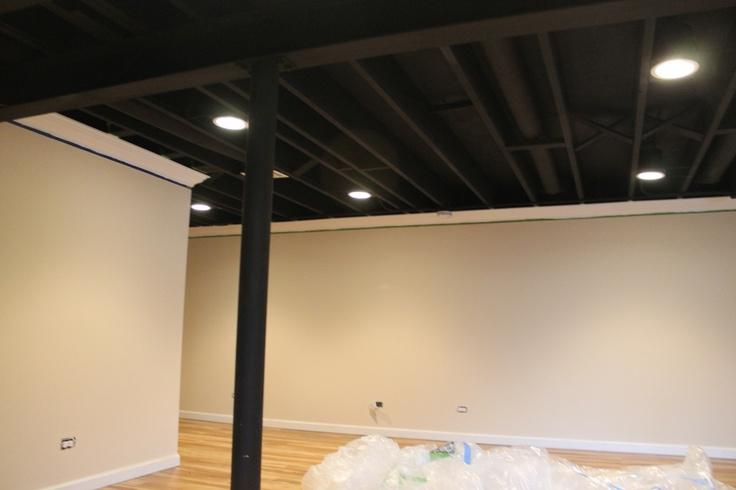 Black Ceiling In Basement Photos