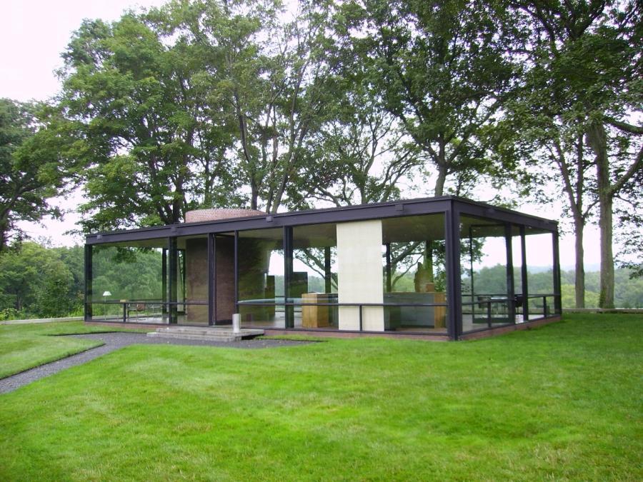 glass house philip johnson photos. Black Bedroom Furniture Sets. Home Design Ideas