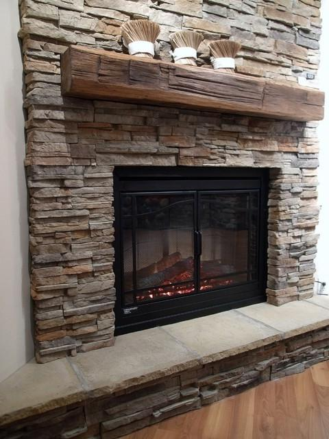 Stone Veneer Fireplace Photos