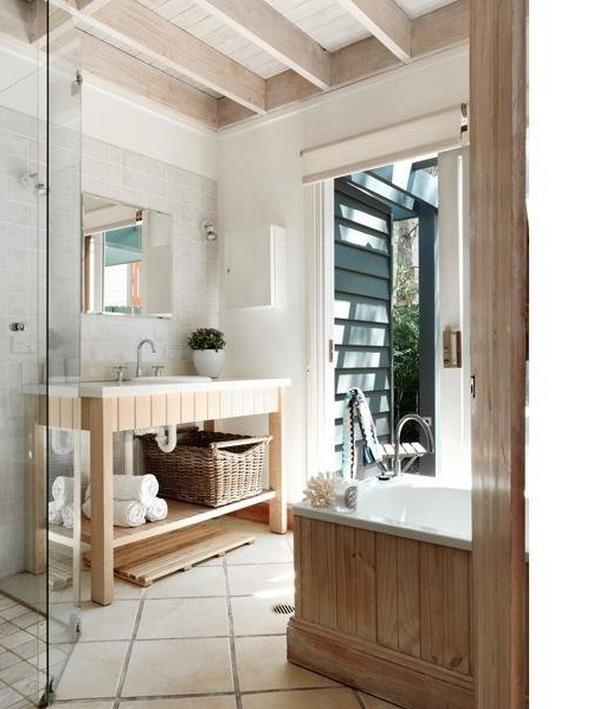 Beach house bathroom designs photos for Beach cottage bathroom ideas