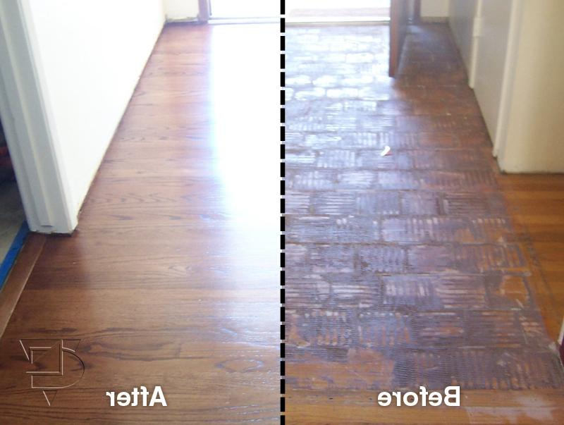 Before and after photos of hardwood floors for Oakland flooring