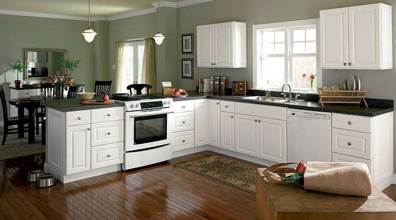 Satin White Kitchen Cabinets Inspiration Interior listed in: