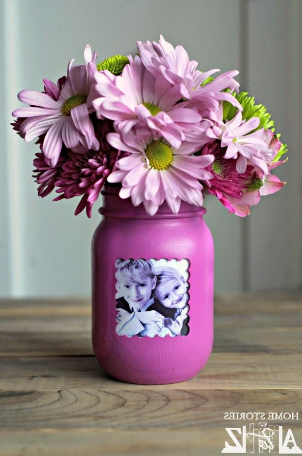 Cube photo frame vase