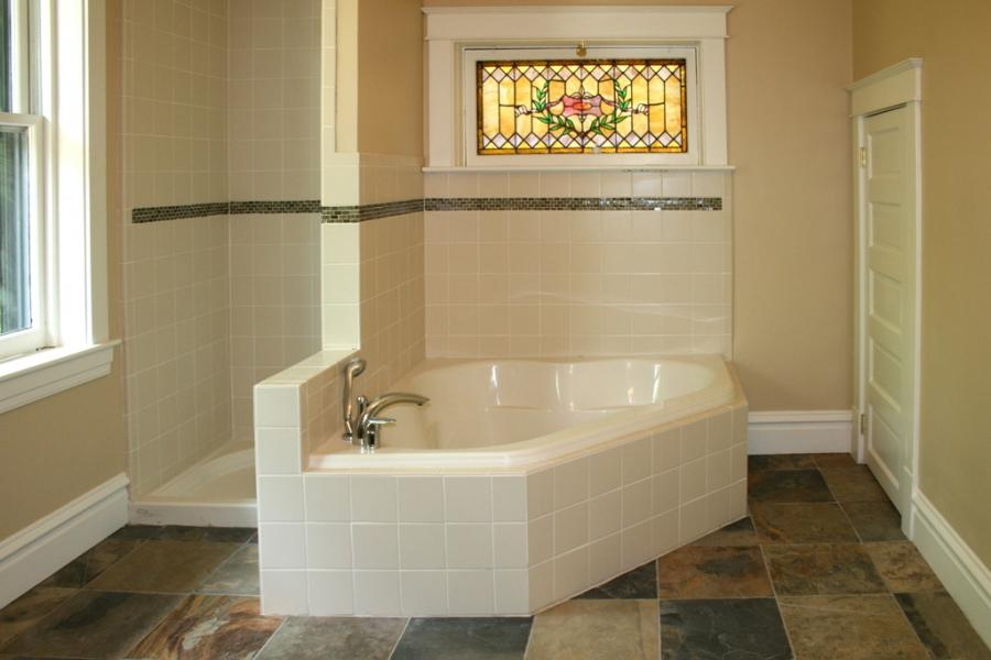Custom Tile Showers - Tile St. Louis - Slate Bathroom Floor...