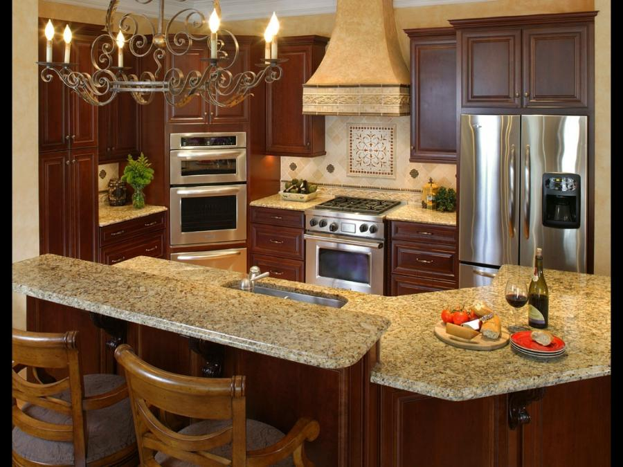 2 Level Kitchen Island Photos
