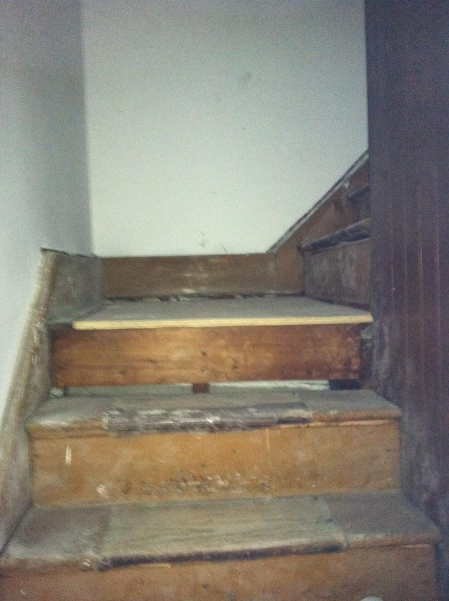 Kinda scary steps to the attic rooms
