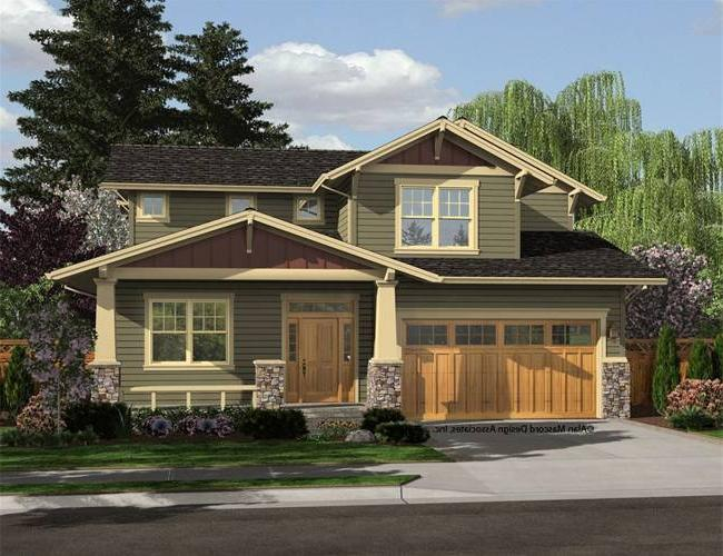 Prairie style house plans with photos for Craftsman prairie style house plans
