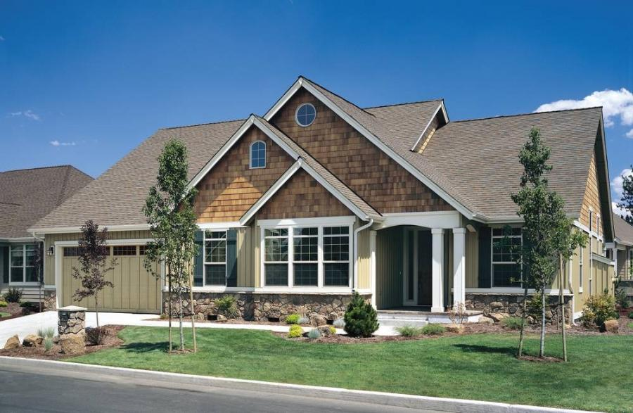 New craftsman house plans photos for Craftsman prairie style house plans