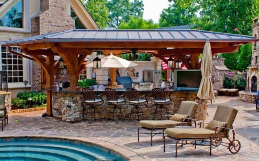 Pool And Outdoor Kitchen Photos