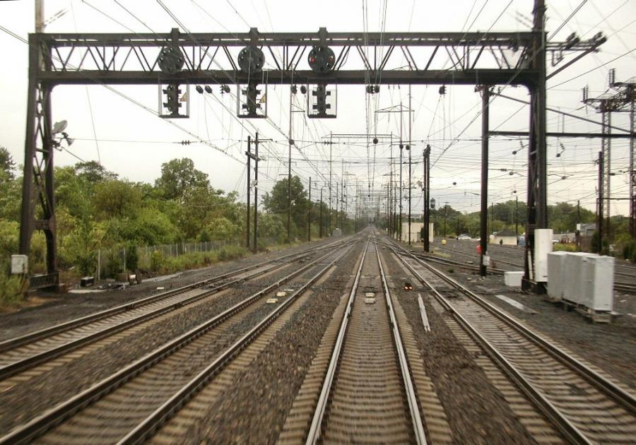 4-track section of Amtraku Northeast Corridor in New Jersey