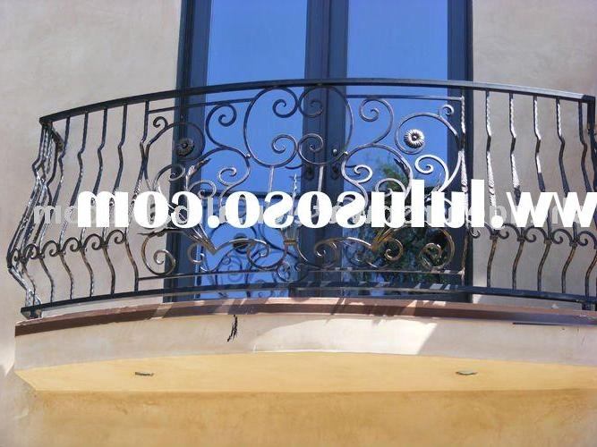 ornamental elegant wrought iron balcony railing