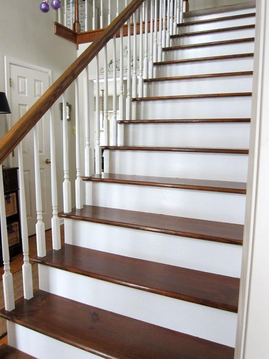 My Foyer Staircase Reveal : Redo stairs photos