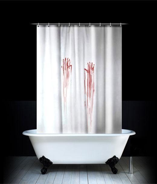 Blood shower curtain 2