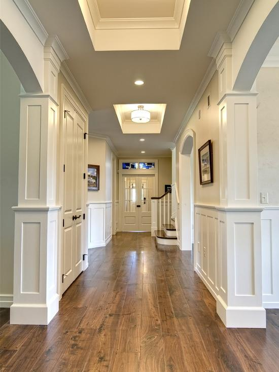 Hallway » Attractive Traditional Hallway Design Ideas Also Light...