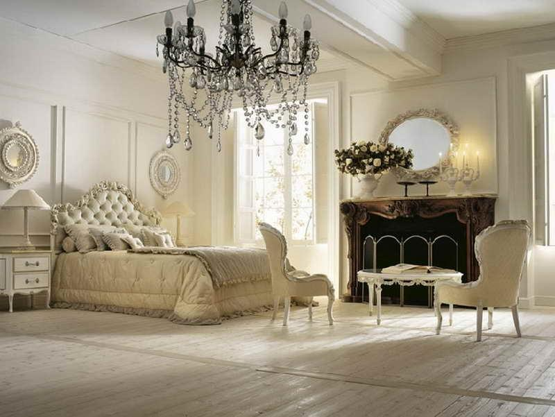... Romantic cozy bedroom decorating ideas with wooden floor and...