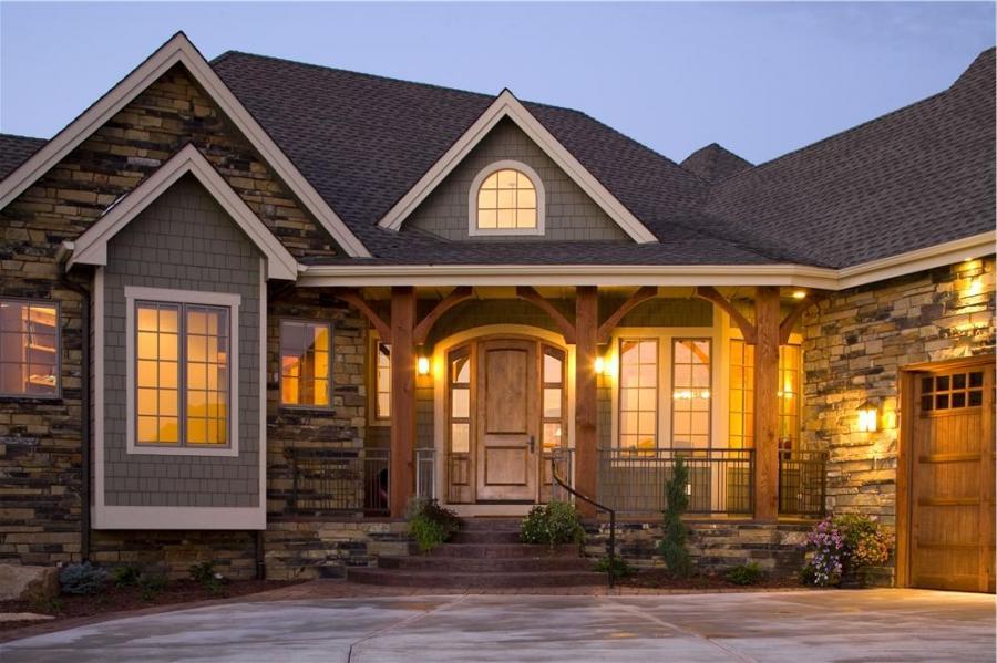 Interior photos donald gardner homes for Craftsman house plans with interior photos