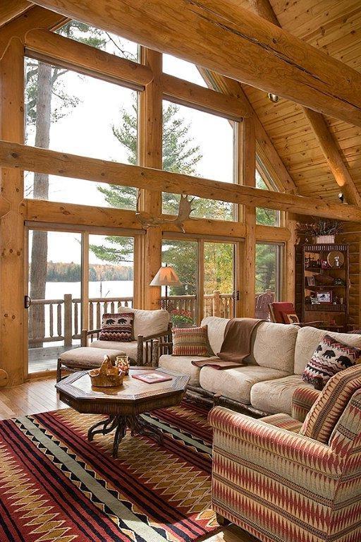 log home interior decorating photos. Black Bedroom Furniture Sets. Home Design Ideas