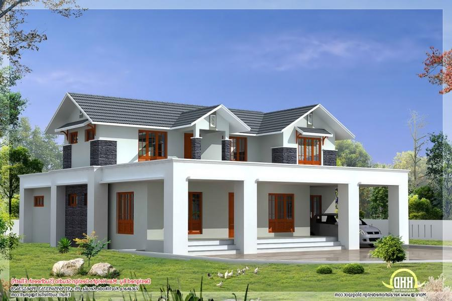 pleasant square feet flat roof house elevation: flat roof design