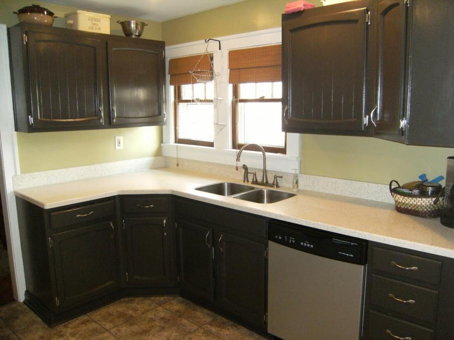 Refinishing kitchen cabinets photos