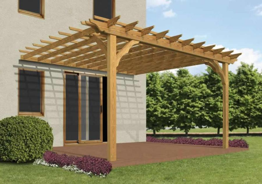 Wall mounted pergola kits 28 images how to build a for Eyebrow pergola plans