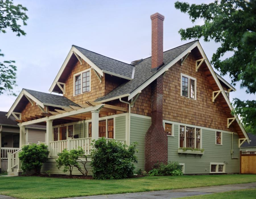 Craftsman style house photo for Pacific northwest homes